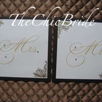 D.I.Y Wedding Challenge:Mr. and Mrs. Chair Signs