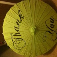 DIY Thank You Parasols