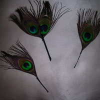 DIY Wedding Challenge: Peacock Hairpins