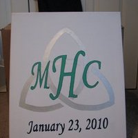 DIY Canvas Monogram
