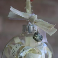 DIY: Wedding invite ornaments!