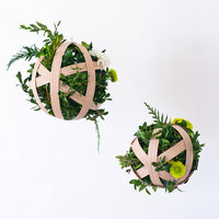 DIY: Hanging Boxwood Penant