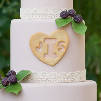 DIY: Stained Glass Monogram Cake