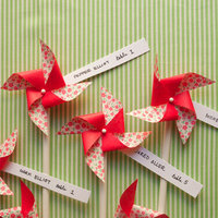 Pinwheel Escort Cards