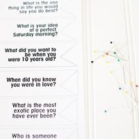 DIY: Conversational Escort Cards