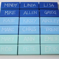 DIY: Ombre Place Card Blocks