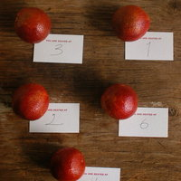 DIY: Easy Citrus Escort Cards
