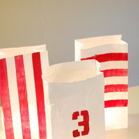 DIY: Painted Luminaries