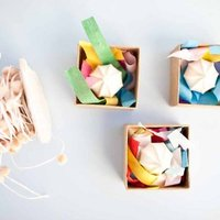 DIY: Embroidered Favor Boxes