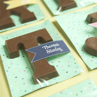 DIY: Cute Chocolate Monogram Favors