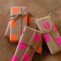 DIY: Neon Polka Dotted Favors