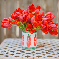 A Pop of Red: DIY Tulip Centerpiece