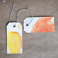 DIY: Watercolor Tags