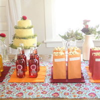DIY: Colorful Soda and Popcorn Table