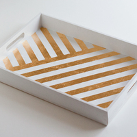 DIY: Metallic Gold Leaf Tray