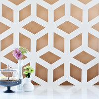 DIY: Modern Geometric Backdrop