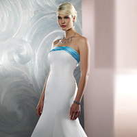 Wedding Dresses, Fashion, white, blue, dress