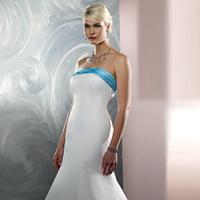 Wedding Dresses, Fashion, white, blue, dress