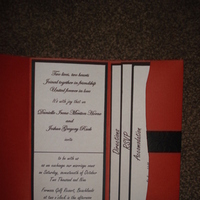 Stationery, orange, black, Invitations, Heart