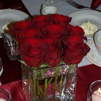 Reception, Flowers & Decor, Decor, red, Centerpieces, Flowers, Roses, Centerpiece