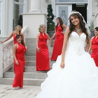 Inspiration, Bridesmaids, Bridesmaids Dresses, Wedding Dresses, Fashion, red, dress, Bride, Board, Claudia grace photography