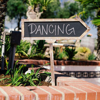 "Chalkboard ""Dancing"" Sign"
