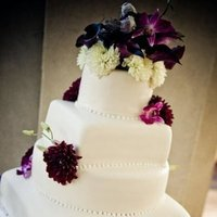 Reception, Flowers & Decor, Cakes, white, pink, purple, green, cake, Flowers, Brown sugar custom cakes