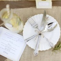 Burlap Place Setting
