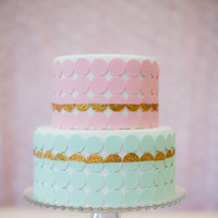 DIY: Glittery Necco Wafer Cake