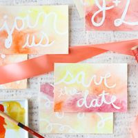 DIY: Watercolor Postcard Save the Dates