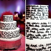 Lyrics-Themed Cake