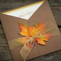 orange, brown, Invitations