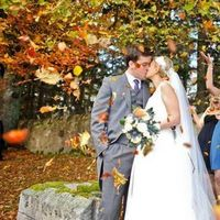 orange, Bride, Groom