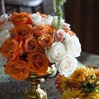 Reception, orange, Flowers