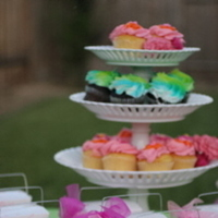 Reception, cake, pink, green, Wedding, Favors, Cupcakes, My sorted affair, Cakes, Favors & Gifts, Flowers & Decor