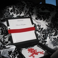 Stationery, white, red, black, invitation, Invitations, And, Damask, Silk, Boxes, My sorted affair, Folios