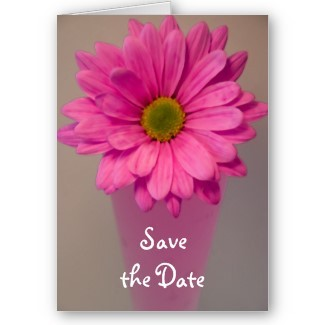 pink, Invitations, Flower, Floral, Daisy, Save the date, Announcement, Announce, A wedding collection by lora severson photography, Wedding save the date, Floral wedding, Pink wedding, Stationery, Announcements, Save-the-Dates, Flowers & Decor