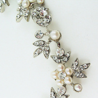 Jewelry, Necklaces, Crystal, Necklace, Pearl, Regina b