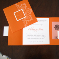 Stationery, orange, Invitations
