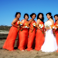 Bridesmaids, Bridesmaids Dresses, Wedding Dresses, Beach Wedding Dresses, Fashion, orange, gold, dress, Beach, Torrance, Karen leah photography, Afternoon