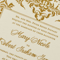 Stationery, white, gold, Invitations, Letterpress