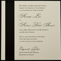 Stationery, white, black, Invitations, And, Ribbon