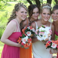 Inspiration, Bridesmaids, Bridesmaids Dresses, Wedding Dresses, Fashion, orange, pink, dress, Board, Claudia grace photography