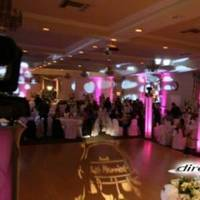 Ceremony, Reception, Flowers & Decor, Decor, white, pink, blue, gold, Lighting, Wedding, Up, Dj, Gobo, Projection, Direct sound wedding dj decor lighting