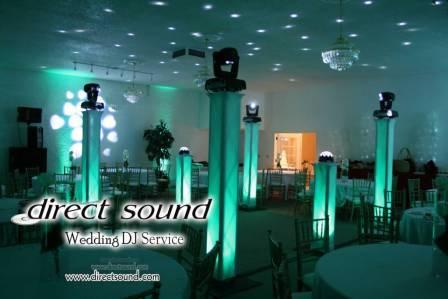 Ceremony, Reception, Flowers & Decor, Decor, purple, blue, green, brown, Lighting, Wedding, Up, Dj, Gobo, Projection, Direct sound wedding dj decor lighting