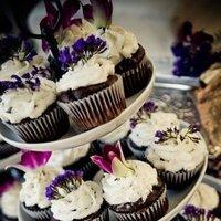 Reception, Flowers & Decor, Cakes, pink, purple, green, cake, Flowers, Brown sugar custom cakes