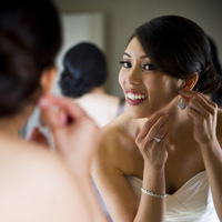 Beauty, Jewelry, Earrings, Makeup, Bride, Getting ready