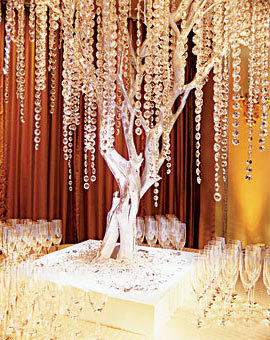 white, Centerpiece, Tree, Crystal