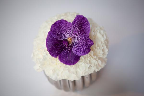 Purple Orchid Vanilla Cupcake