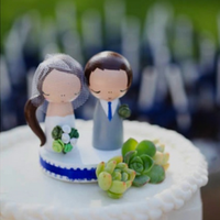 Succulent-Adorned Cake Topper